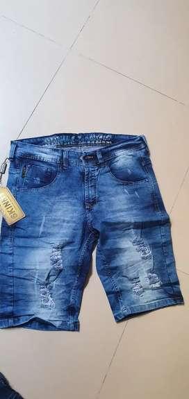 Vendo bermudas en jeans tipo jogger