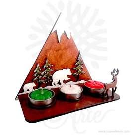 Soporte Velas Montaña Navidad - Precio COP