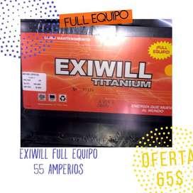 BATERIA EXIWILL FULL EQUIPO 15 MESES