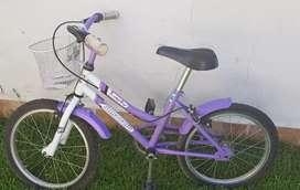 Bicicleta rodado 16 marca Tomaselli