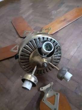 Ventilador 4 aspas 3 Luces Precio Charlable madera