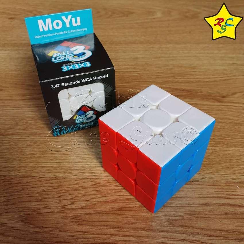 Cubo Rubik 3x3 Meilong Moyu Speedcube Gama Warrior Velocidad 0