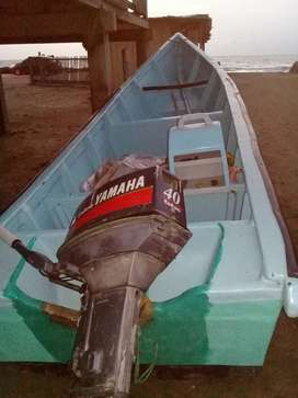 Motor yamaha con lancha