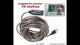 Cable Extension Usb Activa De 10 Metros 2.0