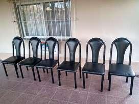 Vendo 6 sillas caño robusto