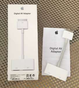Apple AV Adapter 30 pin Cable adaptador AV Digital HDMI para Apple iPhone 4/4S, iPad 2/3