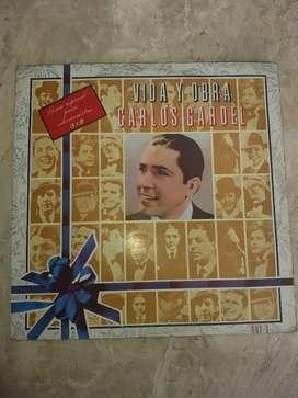 Vendo cambio disco triple de colección de carlos gardel
