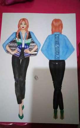 Hago propuestas de diseño de modas y fichas digitales