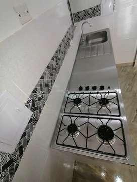 Meson estufa y lavaplatos