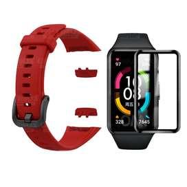 Vidrio Templado Cerámico Y Correa Smartwatch Reloj Inteligente Huawei Honor Band 6