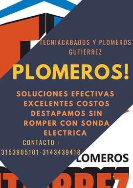 PLOMEROS CON SONDA ELECTRICA 24/7 BOGOTA Y ALREDEDORES