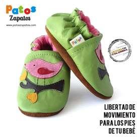 Zapatos para aprender a caminar bebes. Pájaros.