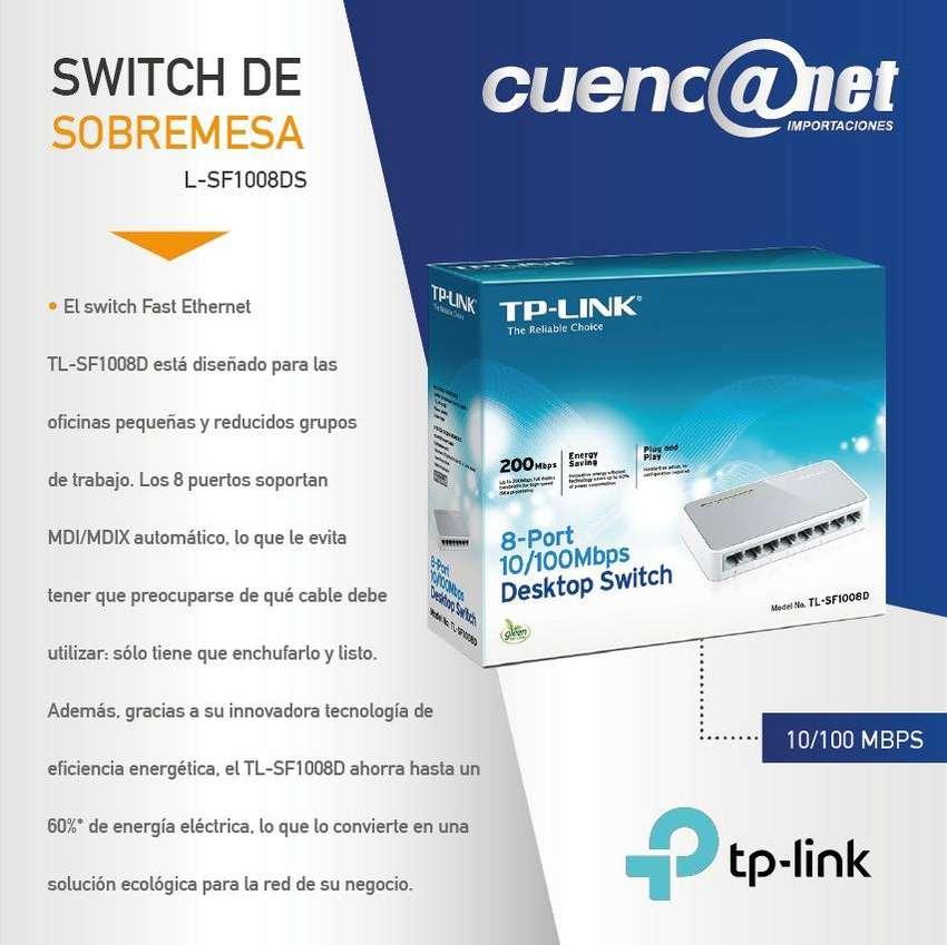 TPLINK TLSF1008D 8 PORT 10/100M MINI DESKTOP SWITCH 0