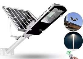 Lampara Led Solar Alumbrado Público 100w