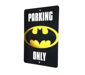 Aviso Parking Batman Only Lamina 30x20cm