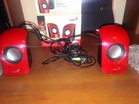Parlantes USB stereo speakers genius