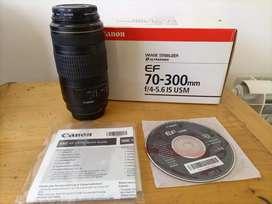 Lente Canon 70 300 IS USM