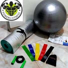 Colchoneta, Balón de Pilates, Kit De Bandas y Lazo Siliconado