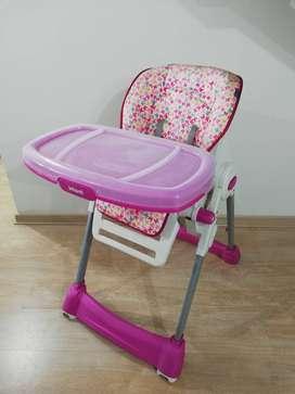 SILLA DE COMER PORTATIL NIÑA MARCA INFANTI