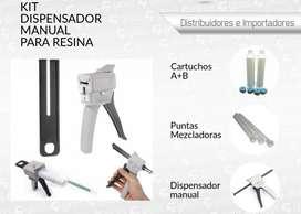 Kit dispensador de resina