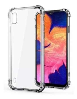 Estuche Silicona + Vidrio Completo 11D Samsung A10 | A10s