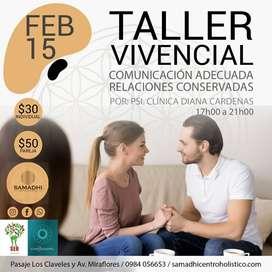 Taller COMUNICACIÓN ADECUADA-RELACIONES CONSERVADASep
