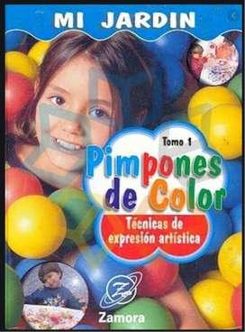 Libro de manualidades Mi Jardin Pimpones de Colores