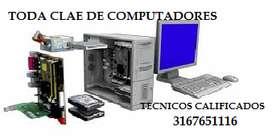MANTENIMIENTO Y REPARACIONES  DE TODA CLASE DE COMPUTADORES EN SU DOMICILIO