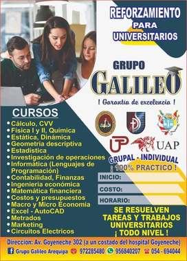 CLASES DE REFORZAMIENTO COLEGIO - UNIVERSITARIOS