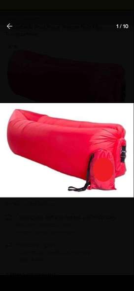 SILLON PUFF INFLABLE GREENTIME ROJO
