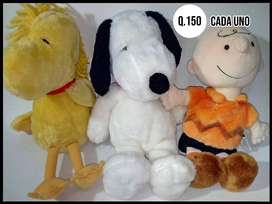 Peluches, Peanuts, Snoopy, Emilio, Woodstock, Charlie Brown, Carlitos, Franklin, Naipes, Tarjetas, Originales.