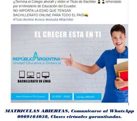 Bachillerato On line en República de Argentina