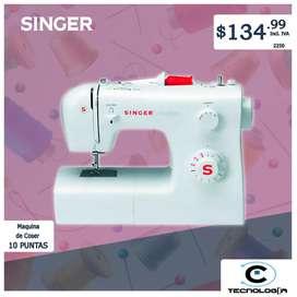 Máquina de coser singer 10 puntas
