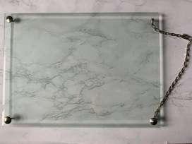 Marco de fotos o diplomas flotante de vidrio para colgar en la pared