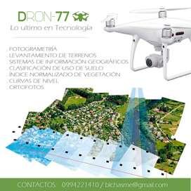 Vuelo con DRONES para TOPOGRAFÍA, LEVANTAMIENTO DE TERRENOS, ORTOFOTOS, obtencion de CURVAS DE NIVEL