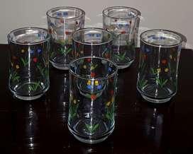 6 Vasos de Cristar 11 oz