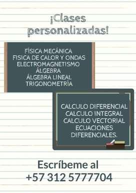 Refuerzos de matemáticas y física