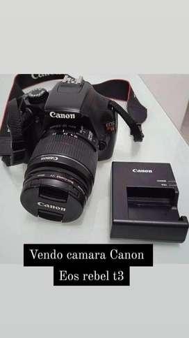 Camara canon eos rebel t3