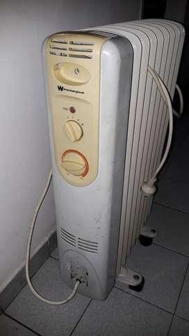 Calefactor Radiador de aceite White Whestinghouse