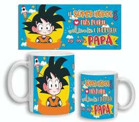 Taza Ceramica Día Del Padre Papá Super Heroe