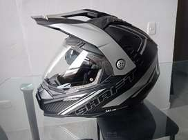 Casco shaft con doble visor, certificado, buenas condiciones talla XL