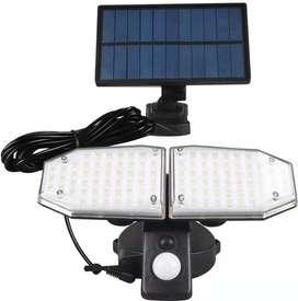 Lampara Solar Con Sensor Interiores E Exteriores 100 Led+++