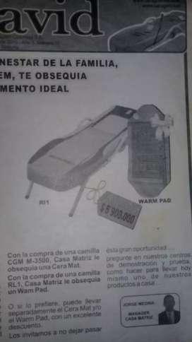 Vendo camilla masajeadora ceragem, modelo rl1