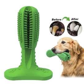 Juguete Cepillo de dientes para perro con sabor a carne