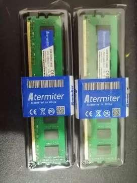 2 Memorias Ram de 2 Gb Ddr3 1600Mhz (Nuevas)