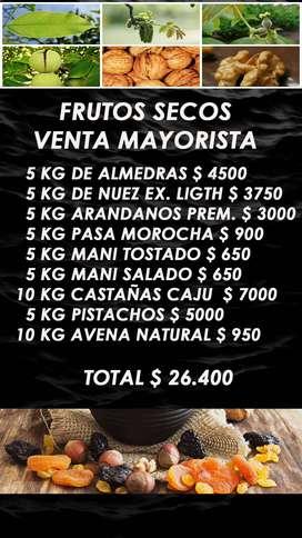FRUTOS SECOS - ALMENDRAS - CASTAÑAS - NUECES