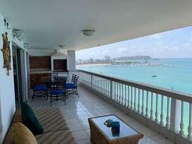 Penthause (piso 12) con vista y frente al mar del Malecón de San Lorenzo, SALINAS