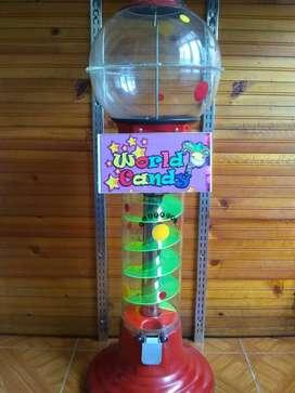 Maquina dispensadora de chicles pelotas
