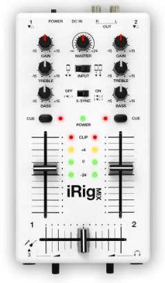Mezcladora de DJ Movil  ultracompacta para iPhone, iPod touch, iPad