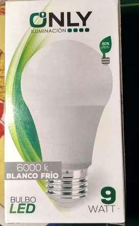 Lámpara led 9w Luz fria